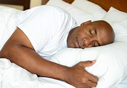 Man sleeping soundly