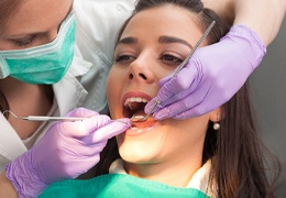 Models of the inside of the tooth